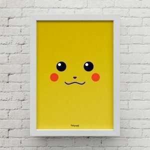 Quadro Minimalista Pikachu CA00016 B