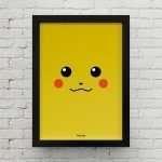 Quadro Minimalista Pikachu CA00016 P