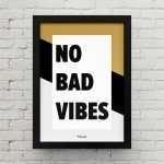 Quadro No bad Vibes SA0015 P